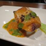 鉄板焼きgrow - 旬な海鮮の一皿(鰤のソテー)