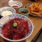 磯丸水産 - マグロ丼&フライドポテト