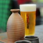 鎌倉 松原庵 - ビールと熱燗で乾杯