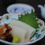 鎌倉 松原庵 - スルメ烏賊の刺身 ワタ和え