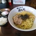 歌志軒 - 油そば【でら盛り】トッピング【温泉玉子】ランチ時「白ご飯」無料
