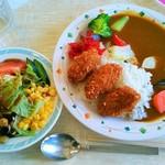 レストランたかつ - カキフライカレー&サラダ