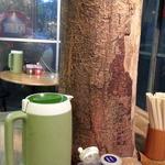 とん龍  - 巨木を囲むようにテーブルが。。というかお店が有ります