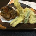 生坂村営やまなみ荘 - 川魚のから揚げと天ぷら