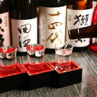 和食バルにふさわしく日本酒は常時35種類以上の豊富な品揃え