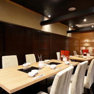 個室、半個室、カウンターと多彩な席をご用意