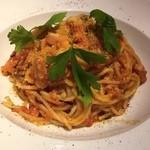 44765041 - トマトソースのパスタ!!これがビックリする位美味しすぎた✨美味しいの連呼でした♡また絶対食べたい!