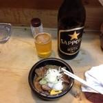 44769050 - 瓶ビール&もつ煮