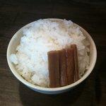 麺屋かまし - 白ご飯&山ごぼう