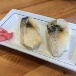 鳥見本 - お寿司屋さんの早寿司(2貫)150円(税込)