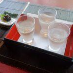 川越 幸すし - ドリンク写真:鏡山利き酒セット