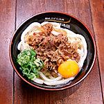 水道橋麺通団 - 肉かまたま(肉釜卵うどん)