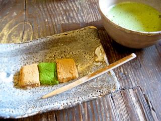 喫茶去 - わらび餅(お抹茶付き)
