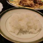 ミンガラバー - 「ジャスミンライス」、小皿で試食させていただきました。