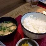 44781665 - 味噌汁は濃いめ、ご飯は硬めでgood!