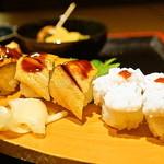 一張羅 - 穴子寿司三種盛