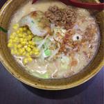 44786679 - 九州麦味噌野菜らーめん +コーントッピング