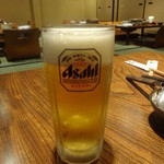相撲茶屋 ちゃんこ江戸沢 - 生ビール:529円