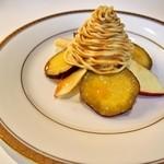 六花亭 - さつまいもとりんごのモンブラン