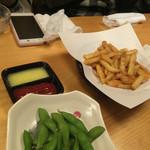 44790969 - ポテトフライと枝豆とあたし。