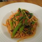 パリエッタ - アスパラ菜のブッタネスカスパゲティ