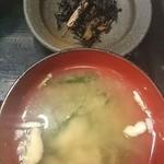 ごちそう家 ぽん太 - ひじき&味噌汁