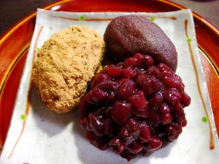 かさぎ屋 - 三色萩乃餅