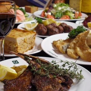【ギリシャ料理】本格ギリシャ料理の数々を召し上がれ