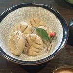 清明祥世庵 - 料理写真:メニューに無い、そばがきを作ってもらいました。 初めて食べました。 これが蕎麦なんだって感じでした。