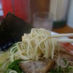 ラーメン食堂 麺道場 - 細麺は固茹でに注文