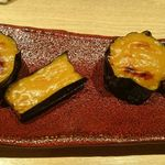 44829871 - 秋茄子の味噌田楽
