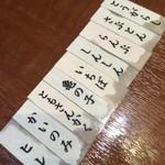 神田 炎蔵 - 左から希少部位の美味しかった順