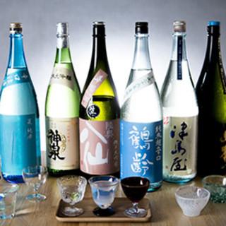 こだわりの日本酒は厳選した品揃え。