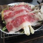 休暇村 日光湯元 レストラン - 栃木牛の朴葉焼き