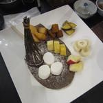 休暇村 日光湯元 レストラン - 子供用のチョコレートフォンデュ。