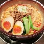 麺屋 維新 - 燻製半熟卵入り汁なし担々麺☆彡