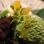 産直鮮魚と個室 葉隠 - 白玉抹茶ぜんざい