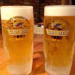 イタリアンバル ディース - 生ビール ♪(*^^)o∀*∀o(^^*)♪