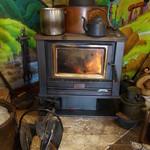 そば源 - 暖炉があるでよ