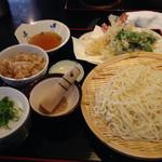 開化亭 - ごまだれうどんセット(細麺)