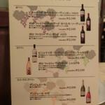ラパン - ワインリスト