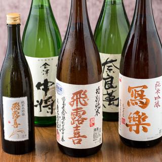 美味しい日本酒、厳選焼酎、国産ワイン