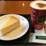 タリーズコーヒー - チーズケーキとカプチーノ