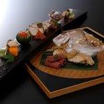 加賀屋 - 加賀祝料理【鯛の唐蒸し】付き