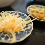 中華料理 豊楽園 - もやしナムル、ザーサイ