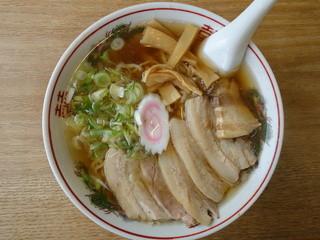 喜多方ラーメン 天高盛 - らーめん(¥600税込み)