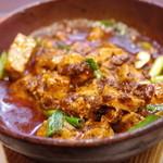 古月 - 麻辣豆腐と白ご飯