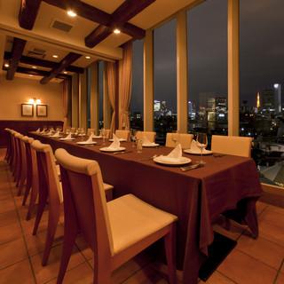 東京タワーを一望できるVIPルーム【ナポリ】