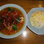 一光食堂 - 担々麺と半チャーハンのペア