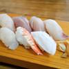いろは寿司 - 料理写真:サワラ、キツネガツオ、マルコ、ダルマ、バトウ、女郎エビ、マダコ